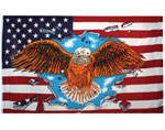 USA Flags American Flag With Bald Eagle 3X5