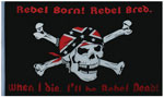 US Rebel Flag Rebel Dead Skull Flag