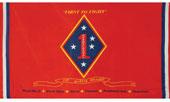 1St Marine Division Banner Red 3 X 5 Flag