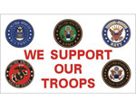 We Support Our Troops Flag 3 X 5