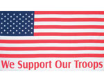 We Support Our Troops American Flag Banner