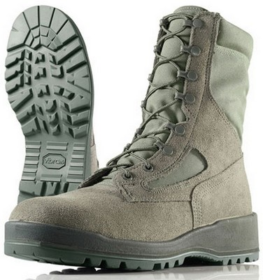 Wellco Women's Size 9 Steel Toe Combat Boots Sage Green: Army Navy ...