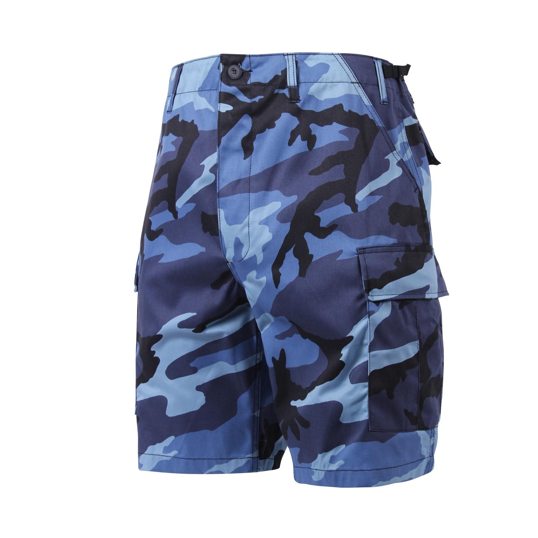 Blue Camouflage Shorts Military Cargo Shorts Army Navy Shop