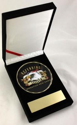 Challenge Coin-Ond Defending 3.5&Quot Medallion