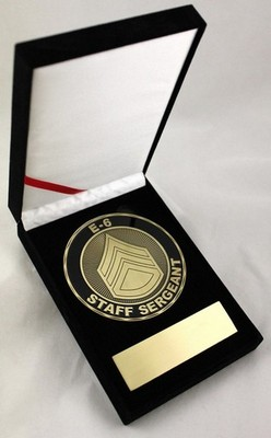 Challenge Coin-Army E-6 Staff Sergeant 3.5&Quot Medallion