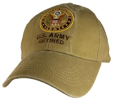 Cap U S Army Retired Khaki Army Navy Shop