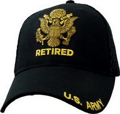 Cap U S Army Retired Black Mesh Army Navy Shop