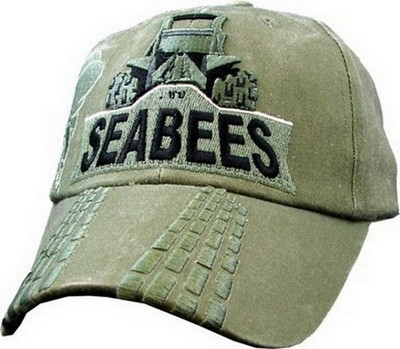 Cap Seabees With Bulldozer Washed Od Army Navy Shop