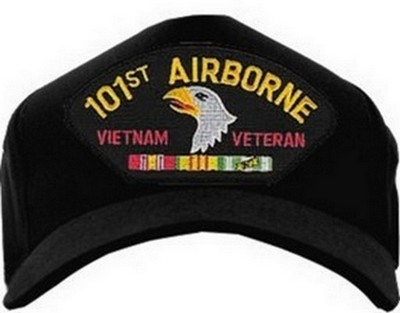 Usa Made Emblematic Cap 101st Airborne Vietnam Black