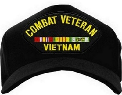 b96dbfe5795 USA-Made Emblematic Cap - Combat Veteran Vietnam (With Ribbons)  Army Navy  Shop