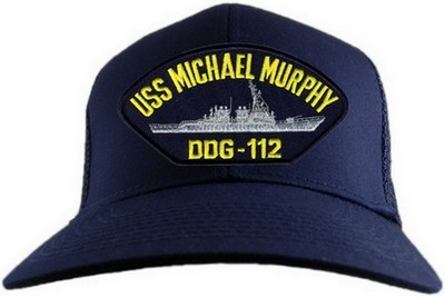 USS Michael Murphy DDG112 Denim Hats Washed Retro Baseball Cap Dad Hat