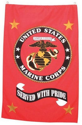 Us Marine Corp Banner Served With Pride Army Navy Shop
