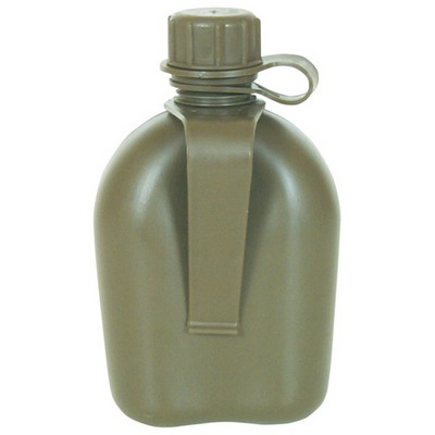 1 Qt Canteen With Belt Clip Olive Drab Army Navy Shop