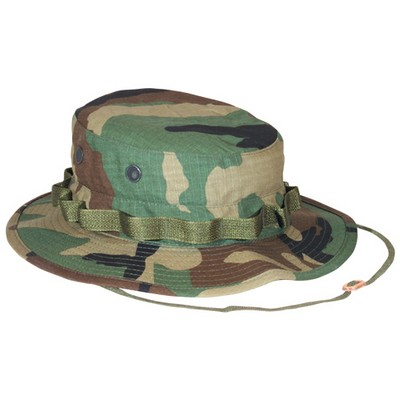 Boonie Hat Woodland Camo Ripstop Army Navy Shop