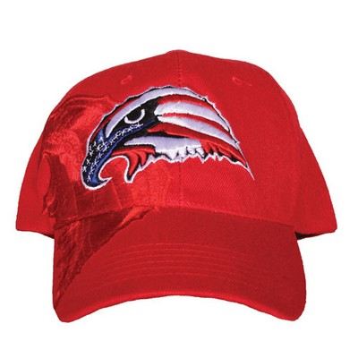 Embroidered Ball Cap Usa Eagle Red Army Navy Shop