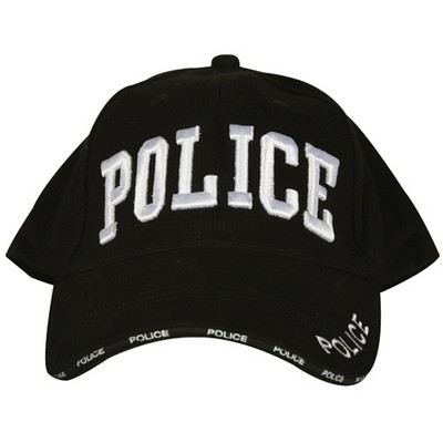 Embroidered Ball Cap Police Black Army Navy Shop
