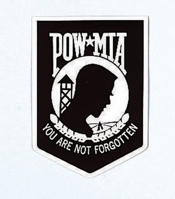 Pow Mia Decal Outside Army Navy Shop